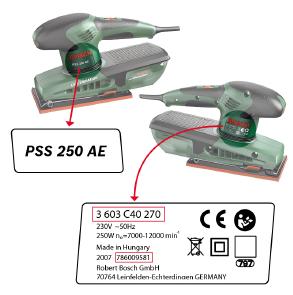 Veiligheidswaarschuwing Bosch schuurmachines - identificatie