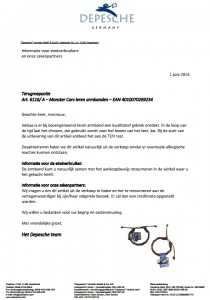 Terughaalactie Monster Cars armbanden