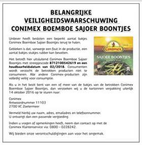 recall_conimex_sajoerboontjes