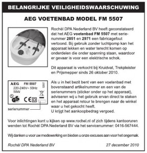 recall_aeg_voetenbad
