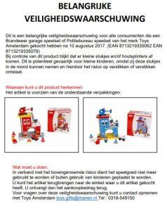 Advertentie terughaalactie 2-Play Brandweergarage en Politiebureau