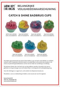 Advertentie Senses Brands Catch & Shine badbruiscups (Kruidvat)