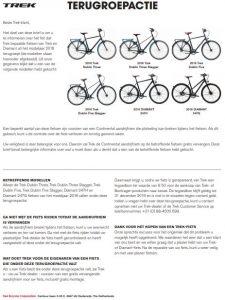 Advertentie Trek fietsen Dublin en Diamant