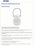 Advertentie terugroepactie glazen LED kaars Action