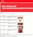 Advertentie Allergiewaarschuwing Vomar gebakjes