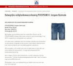 Advertentie terugroepactie POCOPIANO Jongens Bermuda (ALDI)