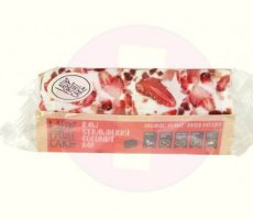 Allergiewaarschuwing Lady Fruit Cake Raw Strawberry-Coconut Bar