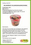 Advertentie allergenenwaarschuwing Mr. Kon's Braised Beef Bowl Noodle (Amazing Oriental)