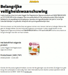Advertetie allergenenwaarschuwing Jumbo Veggie Chef Vegetarische Zigeunerschnitzel