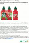 Advertentie terugroepactie Teisseire Fruit Shoot Framboos-Aardbei