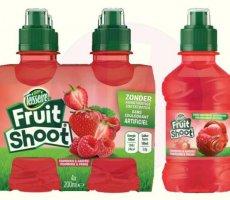 Terugroepactie Teisseire Fruit Shoot Framboos-Aardbei