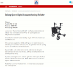 Advertentie terugroepactie Aspiria rollator ALDI