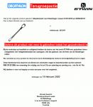 Advertentie terugroepactie Decathlon B'TWIN adapterstaaf fietsdrager