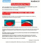 Advertenie terugroepactie Decathlon Nabaiji zitband voor peuters