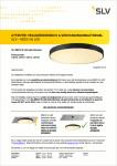 Advertentie veiligheidswaarschuwing MEDO 90 LED plafondlamp