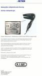 Advertentie terugroepactie Dunlop reishaardroger (Action)