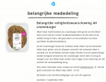 Advertentie allergenenwaarschuwing AH Linzenburger