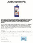 Advertentie veiligheidswaarschuwing Blue Wonder vloeibare ontstopper