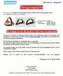 Advertentie terugroepactie Decathlon OnNight hoofdlamp