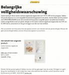 Advertentie allergenenwaarschuwing Jumbo Cashew ongebrand ongezouten
