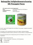 Advertentie terugroepactie Mount Elephant Pineapple Pieces (Ananasstukjes) Liroy BV