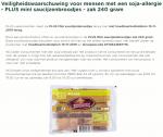 Advertentie allergenenwaarschuwing PLUS Mini Saucijzenbroodjes