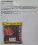 Advertentie Terugroepactie Kirin Brand rode bonen (Wah Nam Hong)