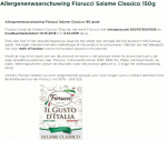 Advertentie allergenenwaarschuwing Fiorucci salami (PLUS)