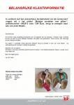 Advertentie terugroepactie KiK meisjessandalen met glitter