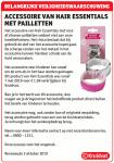 Advertentie terugroepactie accessoire Hair Essentials Kruidvat