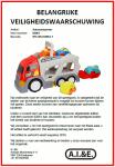 Advertentie terugroepactie speelgoed Autotransporter