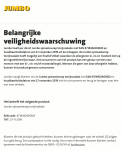 Advertentie allergenenwaarschuwing Jumbo Spinaziewrap Tonijnsalade