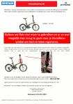 Advertentie terugroepactie BTWIN vouwfiets Tilt 900 (Decathlon)