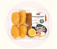 Allergenenwaarschuwing Jumbo Mini Burgers-Nuggets