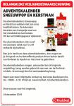 Advertentie terugroepactie Adventskalenders Kruidvat