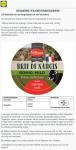 Advertentie terugroepactie LIDL Milbona Selection Brie de Nangis
