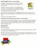 Advertentie allergenenwaarschuwing ProLaTerre vegan nuggets