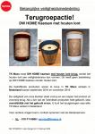 Advertentie terugroepactie DW Home kaarsen TK Maxx