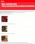 Advertentie terugroepactie Fortisimo koffiecups (Dolce Gusto) Vomar