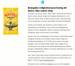 Advertentie allergenenwaarschuwing AH Nacho Chips Naturel