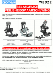 Advertentie terugroepactie Decathlon Wedze Snowboardbindingen