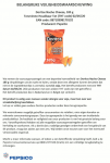 Advertentie allergenenwaarschuwing Doritos Nacho Cheese