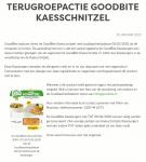 Advertentie allergenenwaarschuwing GoodBite Kaesschnitzels