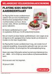 Advertentie terugroepactie Playing Kids Houten Aardbeientaart Kruidvat