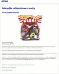 Advertentie allergenenwaarschuwing Klene zoete dropmix (Action)