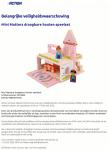 Advertentie terugroepactie Mini Matters draagbare houten speelset (Action)