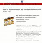 Terugroepactie Mama Nature Biologische Peulvruchten (ALDI)