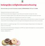 Advertentie allergenenwaarschuwing donuts met decoratie (SPAR)