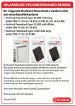 Advertentie terugroepactie Kruidvat powerbanks