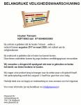 Advertentie terugroepactie Playwood Houten telraam